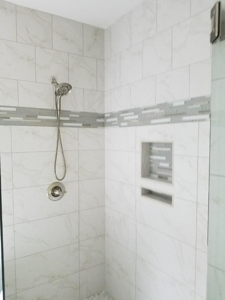Johnson master shower tile