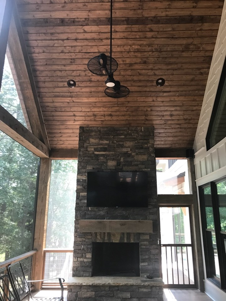 Vickers outdoor fireplace