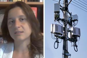 Suzanne Humphrey and 5G tower