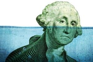 George Washington sinking underwater