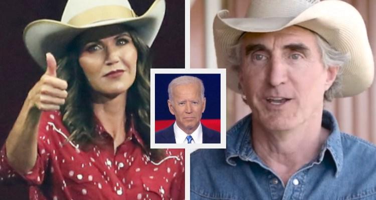 Kristi Noam, Doug Borgum, and Joe Biden