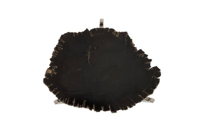 Petrified Wood Side Table / Black, SM
