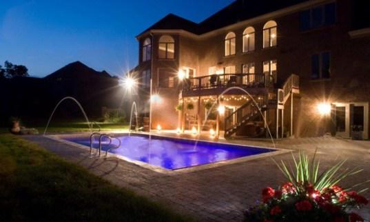Swimming Pool with night lighting