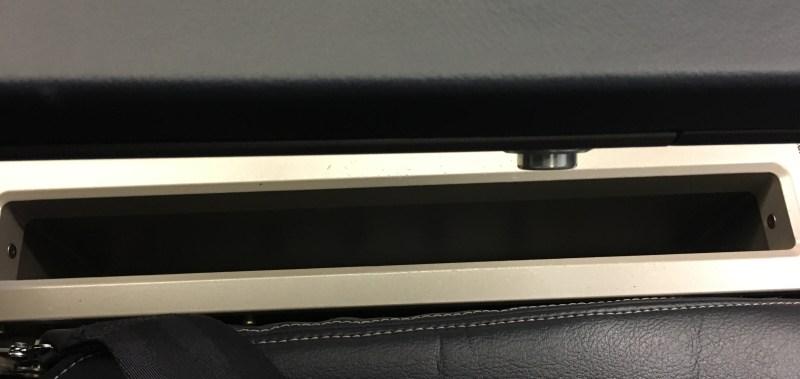 United A320 under armrest storage