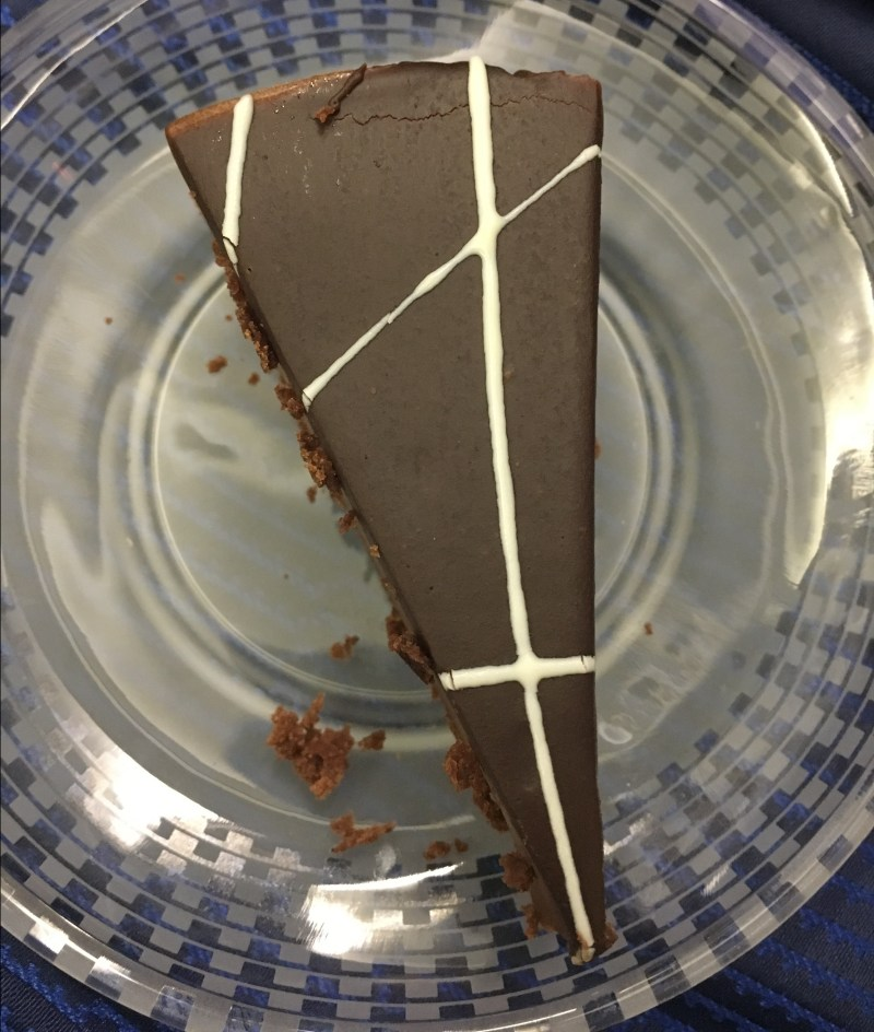 United Airlines' chocolate cheesecake
