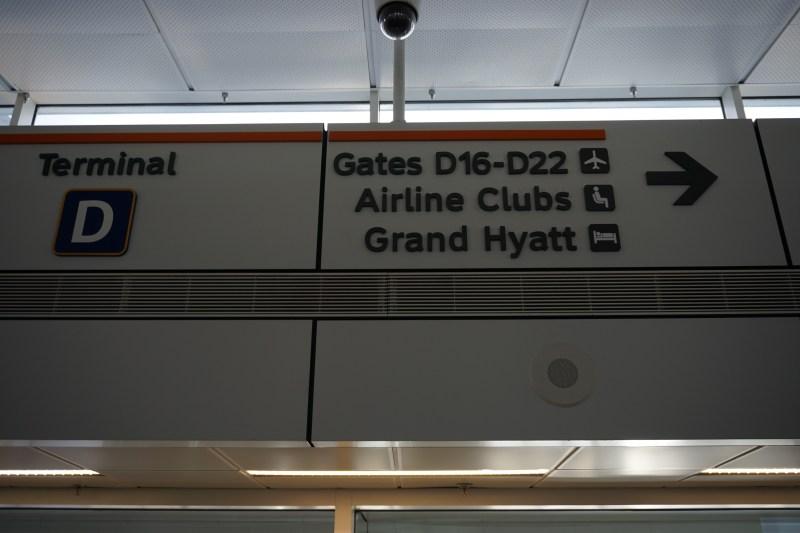 DFW Terminal D signage