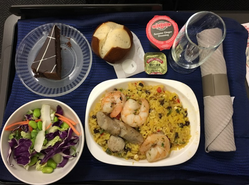 United A320 meal