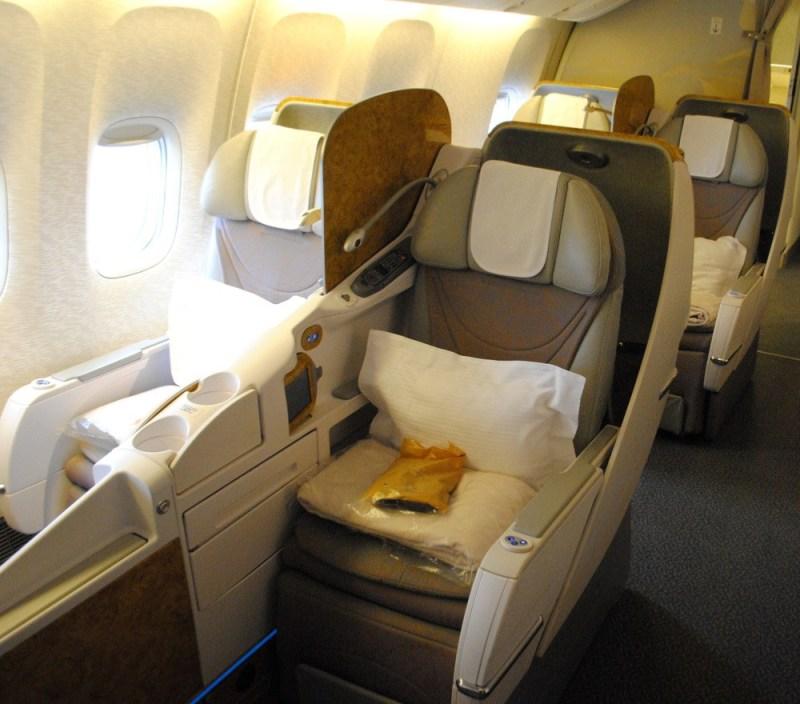 Emirates 777 business class