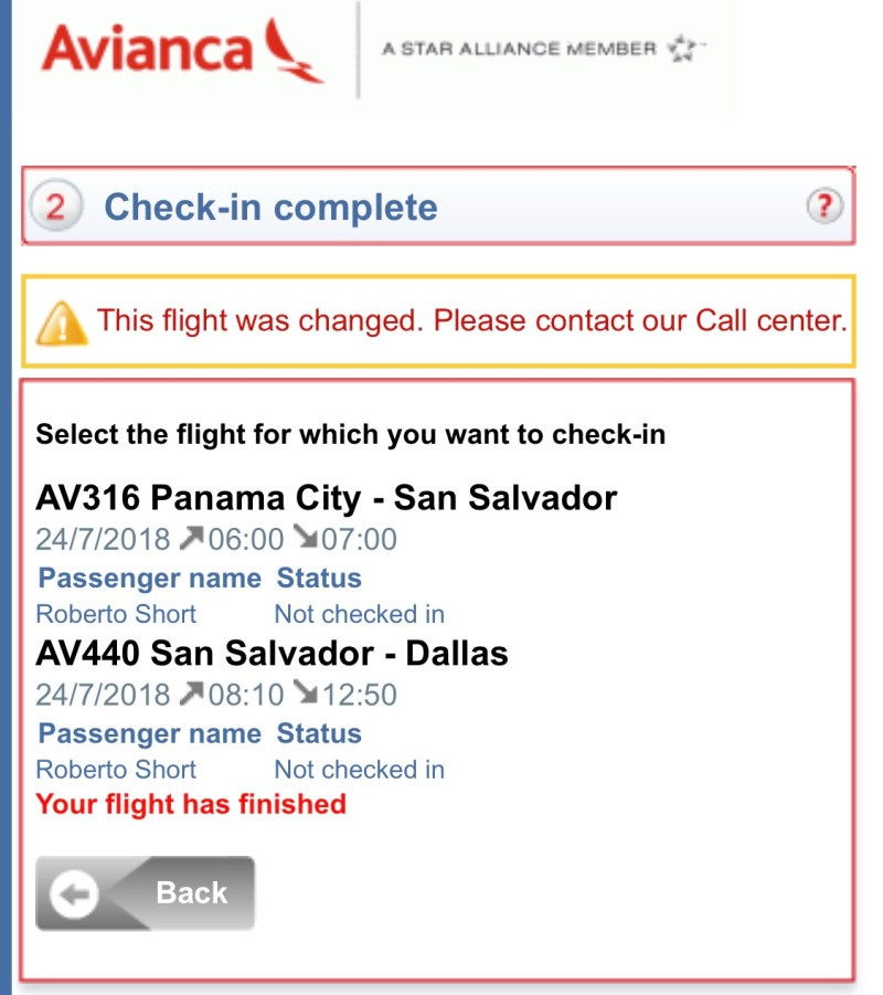 Avianca Airlines Online Check In
