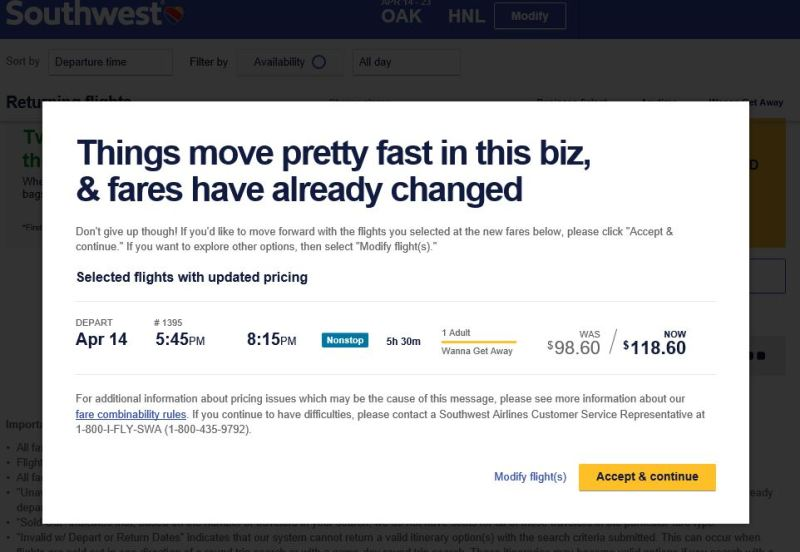 Southwest Airlines Hawaii Fares