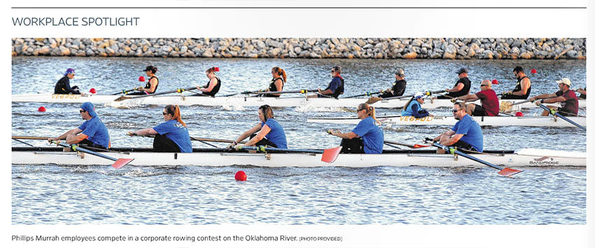 rowing pic from Top Workplaces
