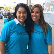 Monica Y. Ybarra, OCBA Community Service Committee Vice Chair, with attorney Ashley Schovanec
