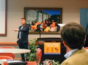 Director Jim Roth presenting at the Solar Summit for Sierra Club.