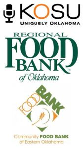 KOSU logo, Regional Food Bank logo, Community Food Bank of Eastern Oklahoma logo