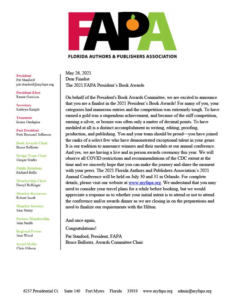 FAPA Award Announcement