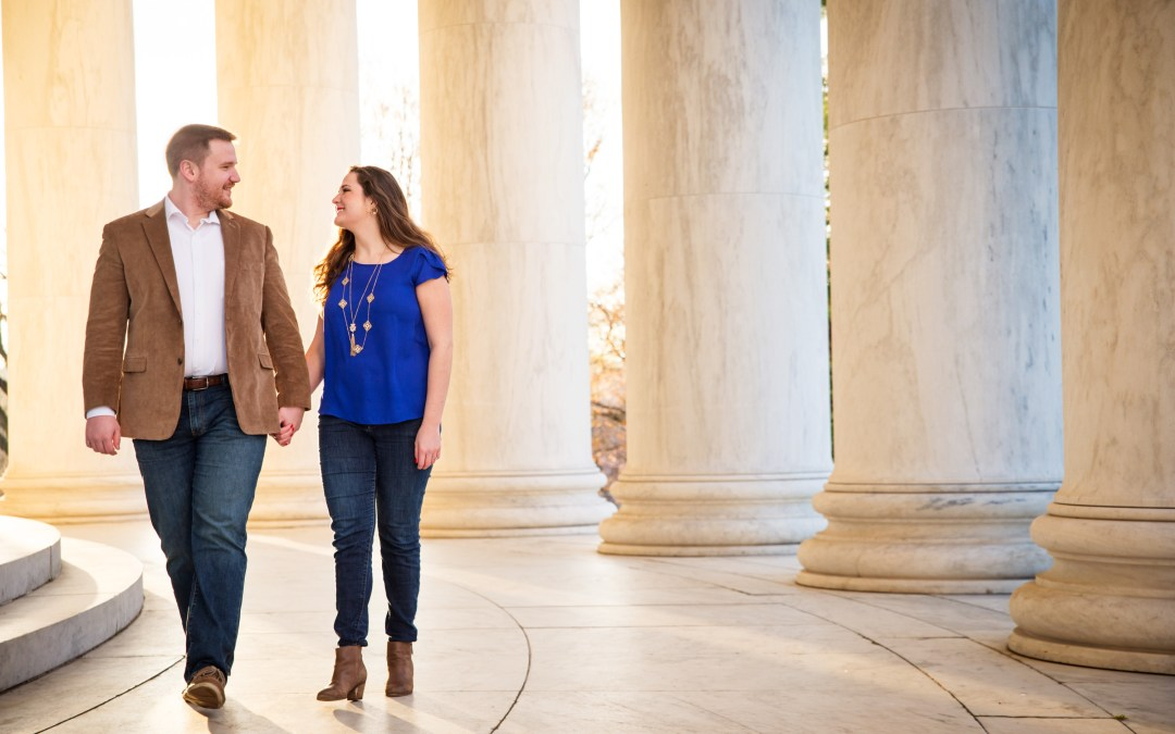 MMJ + CJ | Washington, D.C. Sunrise Engagement Photos