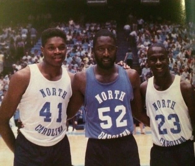 Sam Perkins, James Worthy. & Michael Jordan, made UNC the 1982 march madness champions