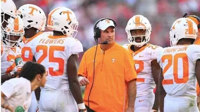 Jeremy Pruitt Tennessee Vols head coach