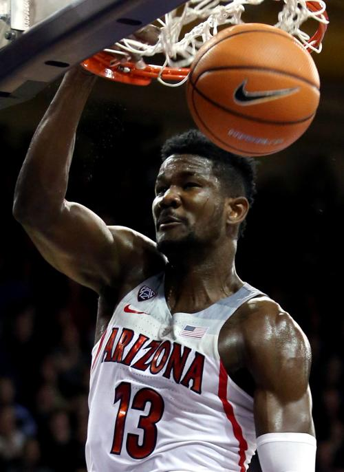 Deandre Ayton at Arizona in 2018