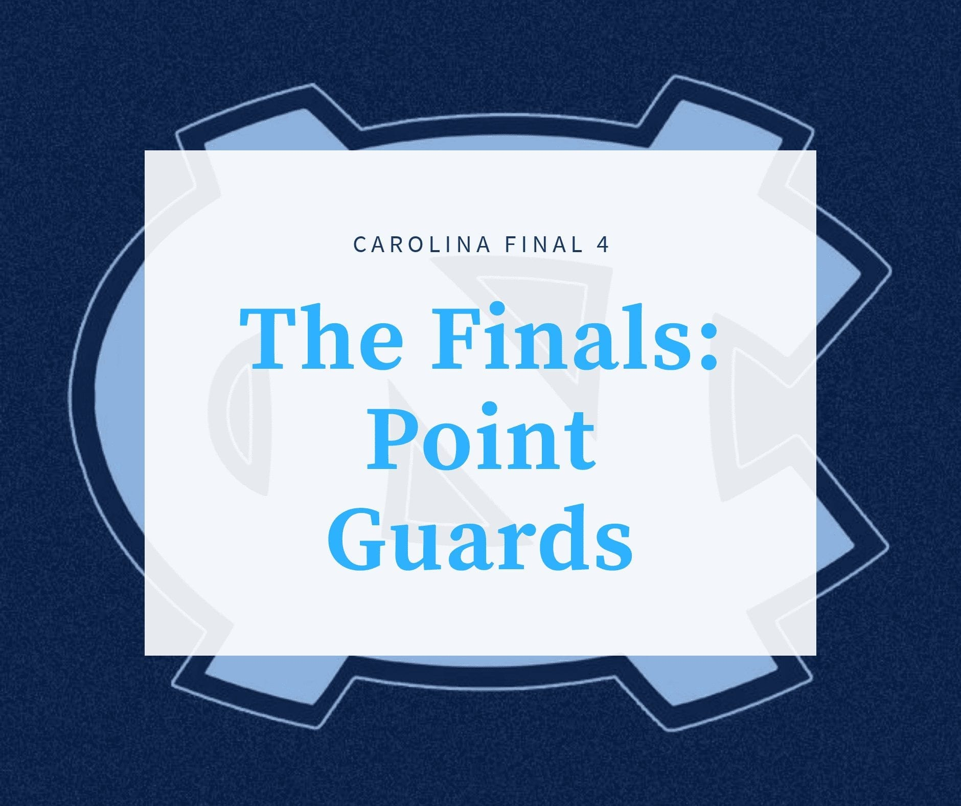 PeaceDot Sports Presents              UNC Point Guards:Final4 TheFinals via @PhillyWhat