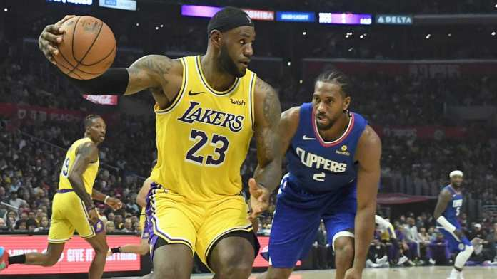 Lakers vs. Clippers. 2020 NBA champion asterisk