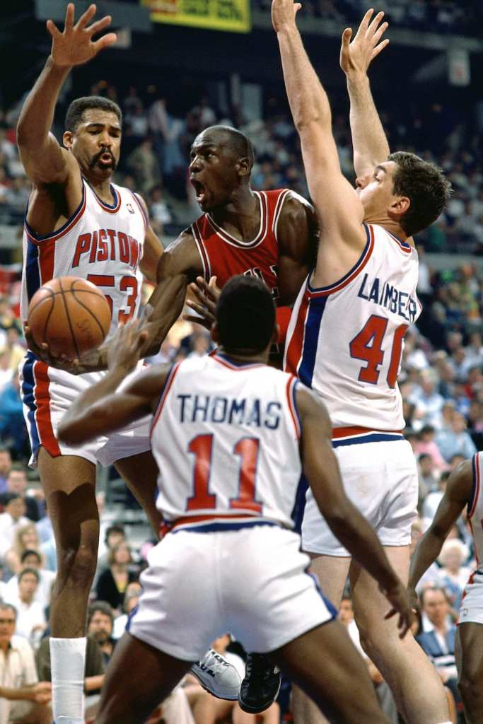 The Detroit Pistons stopped Michael Jordan from winning more rings