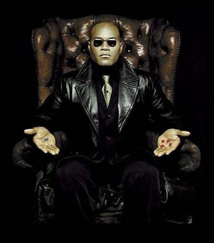 Laurence Fishburne from the Matrix.