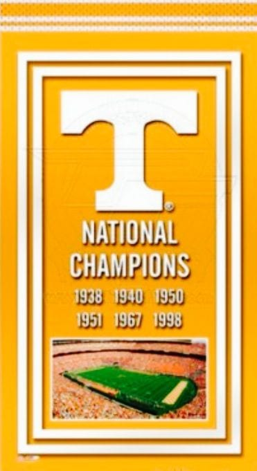 Tennessee Vols football championship banner
