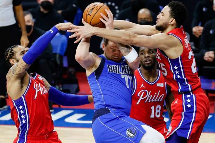Ben Simmons and the Sixers defense, smothering Luka Doncic. This is the defense that could carry Philly through the NBA eastern conference playoffs