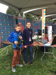 Ben and Jonathan's first Maker Faire with their electronic saxophone