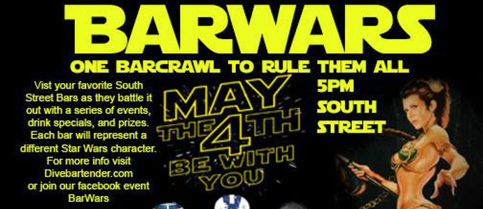 Celebrate May the Fourth With a Star Wars Bar Crawl Along