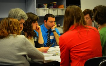 Amy Verbofsky (Delaware Valley Regional Planning Commission), Michaela Allwine (NKCDC), and other participants