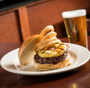 Iron Hill Brewery Hawaii Five Oh Burger