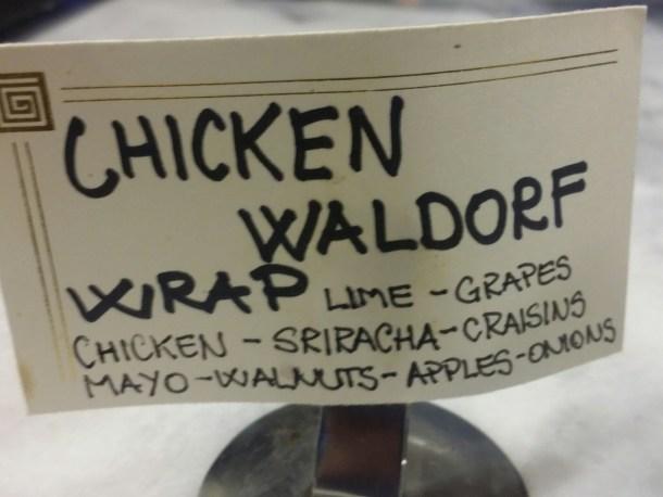 Sriracha Chicken Waldorf Salad Wrap at Ventuno Philly