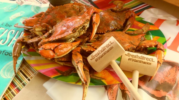 Fresh Direct Maryland Blue Crabs Closeup