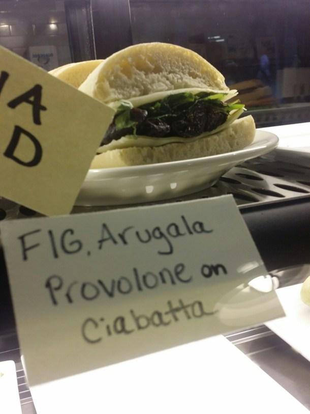 Ventuno Philly Fig, Arugula and Provolone on Ciabatta
