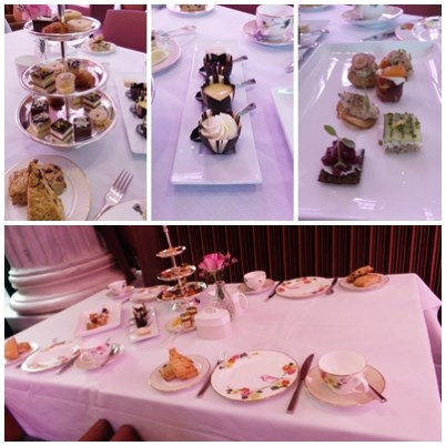 Afternoon Tea at Ritz Carlton Display Table