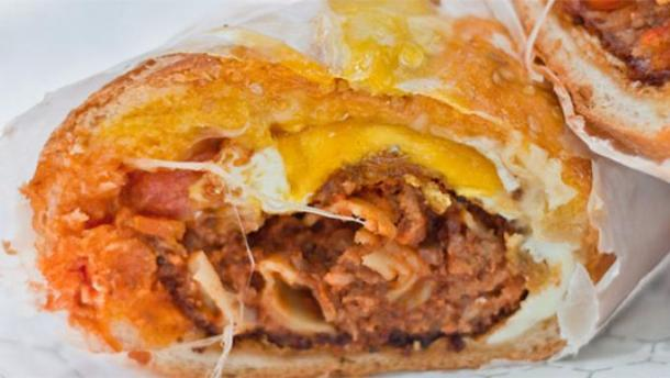 The Bolognese Sandwich at Paesano's. Credit: Zagat.