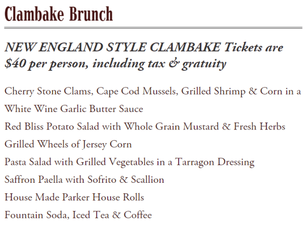 The Olde Bar Clambake Brunch