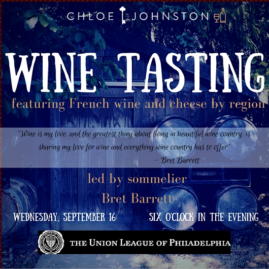 Chloe Johnston Wine Tasting at Union League