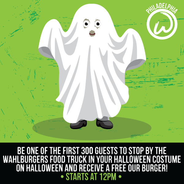 Wahlburgers Halloween Free Burgers at the Piazza