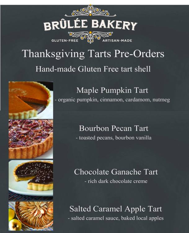 Brulee Bakery Thanksgiving Tarts