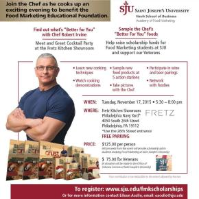 Celebrity Chef Robert Irvine to Headline SJU Fundraiser November 17