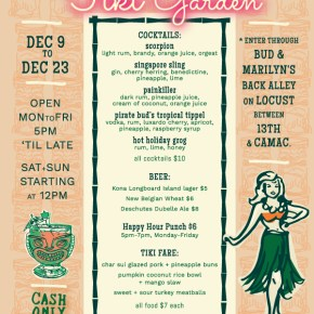 Holiday Tiki Garden Pop Up at Bud and Marilyn's