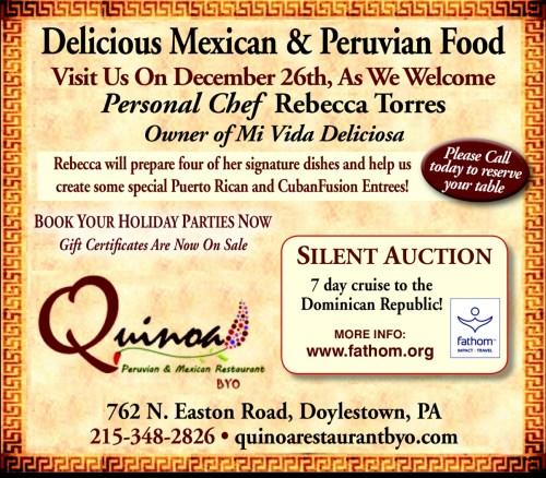 Quinoa Restaurant in Doylestown