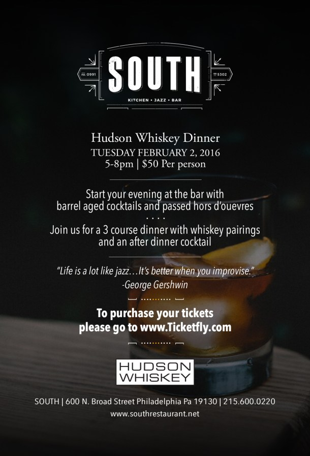 SOUTH Hudson Whiskey Dinner