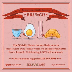 Bring Your Little Love to Brunch & Valentine's Weekend at Square 1682