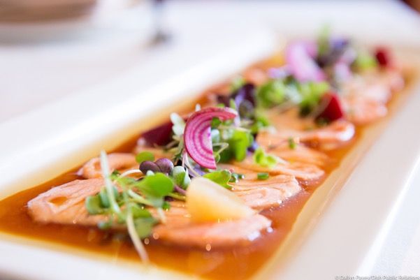 Salmon Carpaccio from Azie on Main