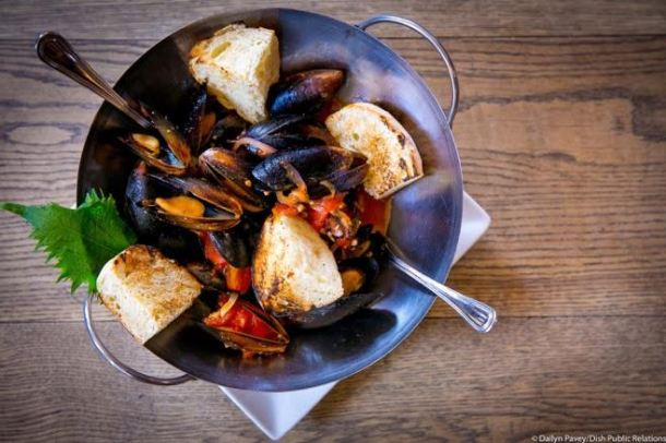 Steamed Mussels from Azie on Main