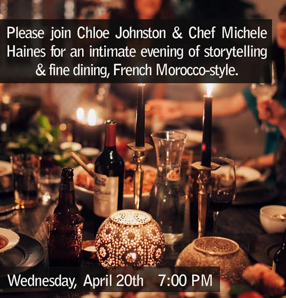 Chloe Johnston and Michelle Haines Moroccan Dinner